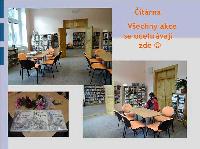Městská knihovna Vimperk - čítárna